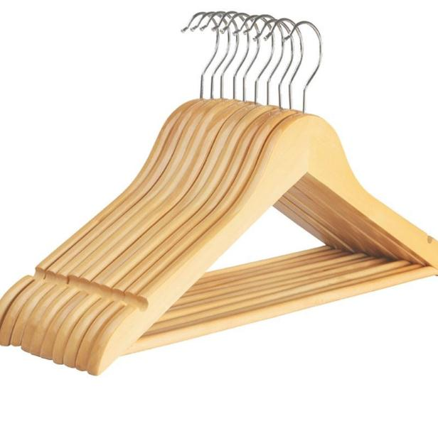 Wooden Clothes Hanger Coat Hanger For Dry And Wet Dual Cloth Purpose Rack Non Slip Storage Supplies Eco Friendly SN1915