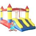 Yard home use mini trampolín gorilas inflables niños castillo hinchable patio trasero al aire libre jugando con ventilador