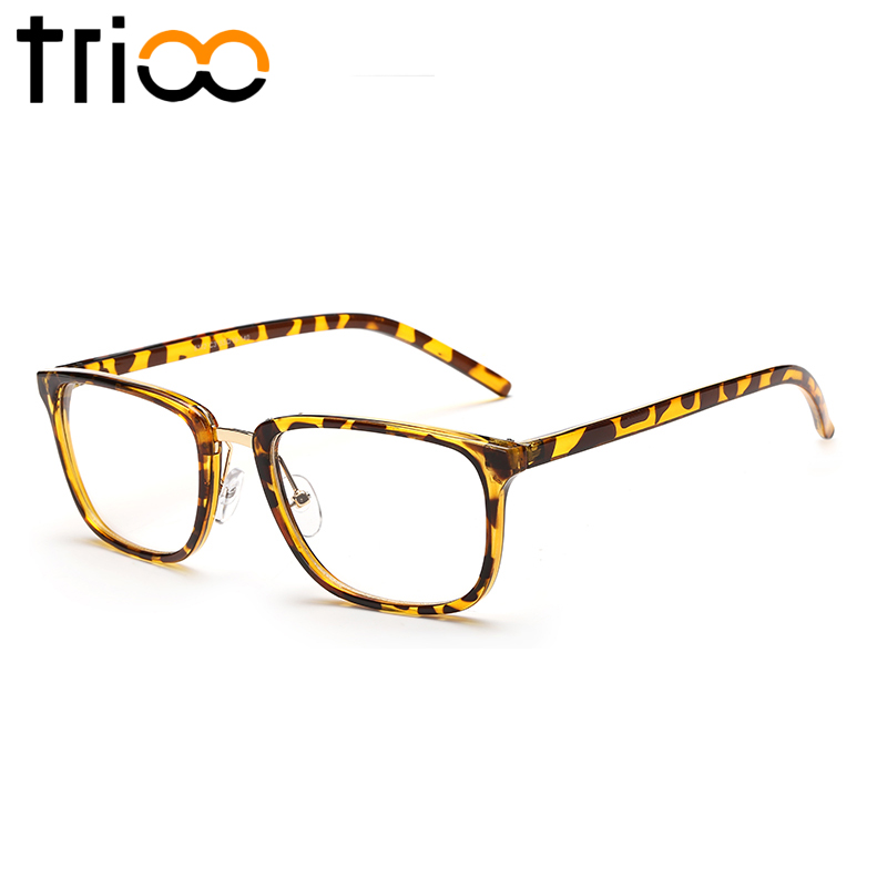 TRIOO Square Frame Mens Eyewear Glasses Female Classic Style Oculos ...