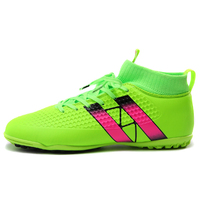 Crampons mens sneakers homme High Ankle Man Indoor football boots soccer shoes with spikes for kids