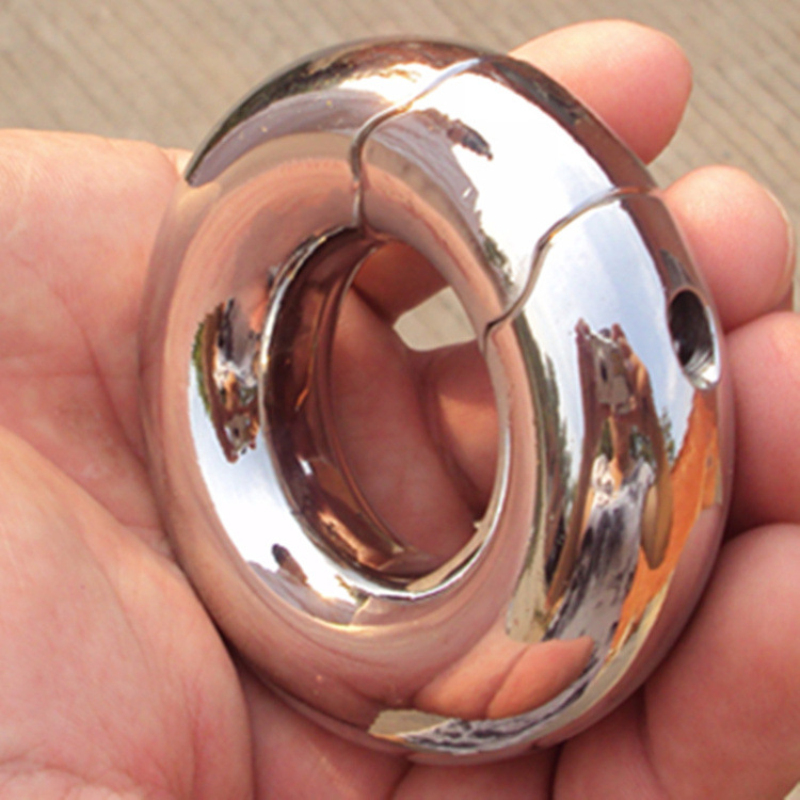 235g Weight Top Stainless Steel Removable Scrotum Ring Increasing Enlargement Exercise for Male,Penis Cock Ring Sex Toys,B2-2-51 wearable penis sleeve extender reusable condoms sex shop cockring penis ring cock ring adult sex toys for men for couple