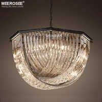 Luces de cristal negro Vintage accesorio claro/ámbar/cristal ahumado lámpara colgante iluminación para Lustres de sala de estar lamparas