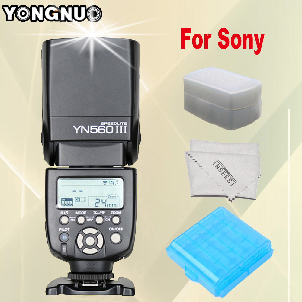 Здесь продается  For Sony A99 A58 A6000 A3000 A7s A7 NEX-6 A6300 A7r A7r II Camera YONGNUO YN560 III YN560III YN560-III Speedlite Wireless Flash  Бытовая электроника