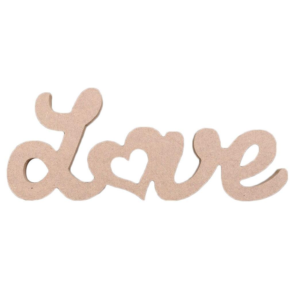 Опора деревянная свадьба знак любовные письма Свадебная вечеринка стул украшение