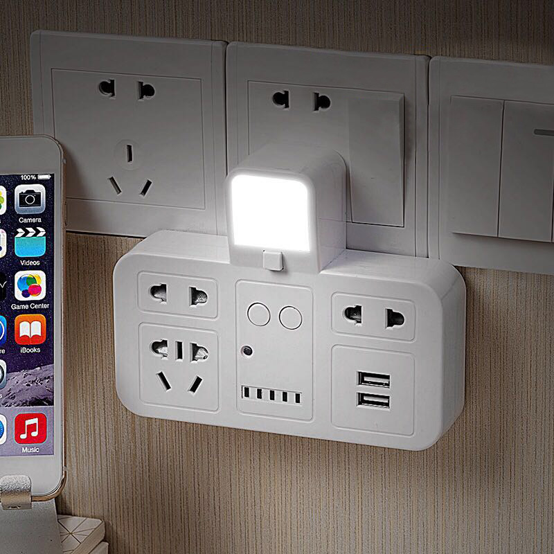Wall Mount Charger Outlet With Switcher LED Night Light Smart Timing Power Socket --M25