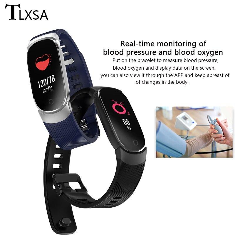 Image 4 - TLXSA Smart Bracelet Fitness Tracker Heart Rate Monitor Smart Band Waterproof Pedometer Sport Wristband For Women Men Smartwatch-in Smart Wristbands from Consumer Electronics
