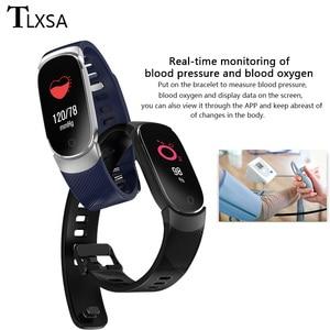 Image 4 - TLXSA умный Браслет фитнес трекер сердечного ритма мониторы водонепроницаемый смарт Браслет Шагомер Спорт для женщин мужчин Smartwatch