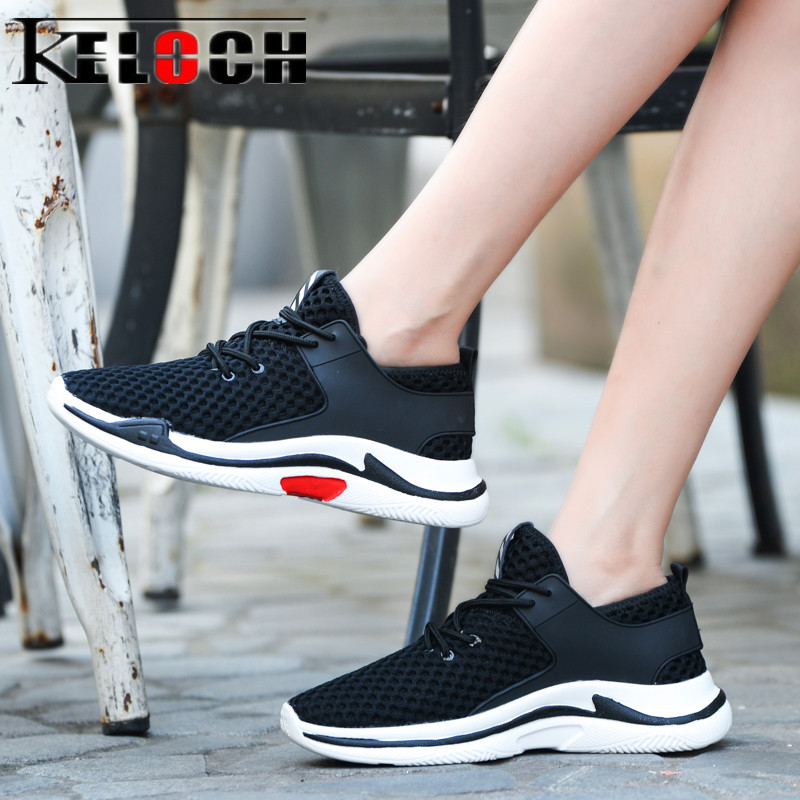 Keloch Brand 2018 Casual Shoes Women Lace-Up Black Sneakers Women Breathable Fashion White Flat Shoes Female Chaussures Femme 2018 new summer women casual shoes lace up woman sneakers breathable flat footwear female mesh shoes fashion dt926