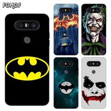 Painted Pattern Soft Rubber TPU Case For LG Q8 Q7 Q6 G6 G7 G5 G4 V40 V30 V20 V10 Transparent Cover Batman Joker Dark Knight