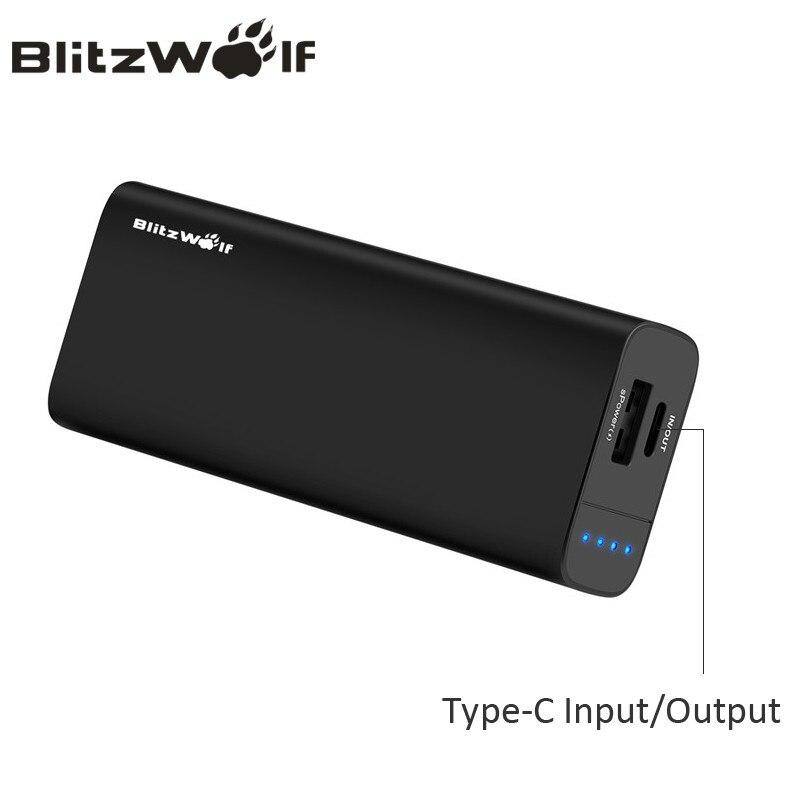 bilder für BlitzWolf 6700 mAh Energienbank Bewegliche Externe Batterie Dual USB Typ C Ladegerät Telefon Universal Für iPhone Für Xiaomi power