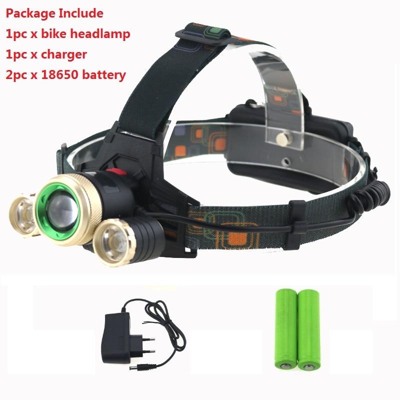 5000Lumen T6 Cycling LED Head Flashlight Bicycle Bike Light HeadLight 12000mAh