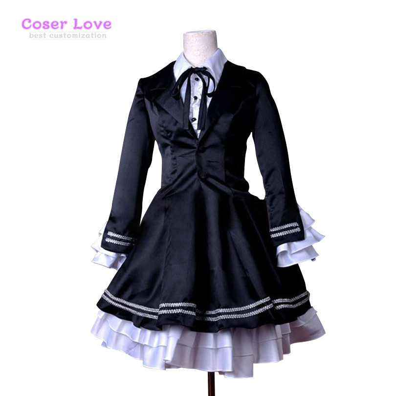VOCALOID Project Diva F Secret Police Miku Cosplay Costume Deluxe KH4 Halloween Christmas Costume
