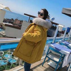 Новая хлопковая куртка зимняя женская большой толстый меховой воротник хлопковое пальто, чтобы согреться