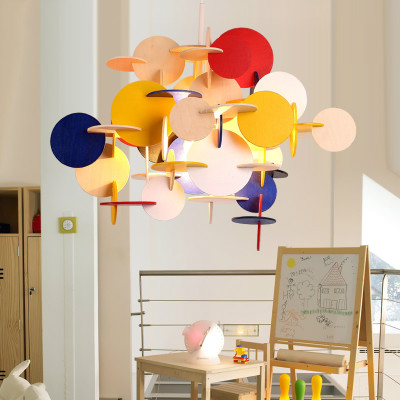 Lovely Creative Building Block Wood Lamp For Kids Bedroom Nordic Hanging  Lamp Bau Pendant Multi Large Pendant Lamp 100 240V  In Pendant Lights From  Lights ...