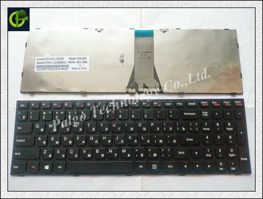 Russian Keyboard for Lenovo B50 30 40 70 B50-30 Touch B50-45 T6G1 T6G1-RU G50 Black RU