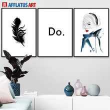 Feather Girl Quote Wall Art Canvas Painting Watercolor Nordic Posters And Prints Black White Wall Pictures For Living Room Decor sunpro vista 3 450w white