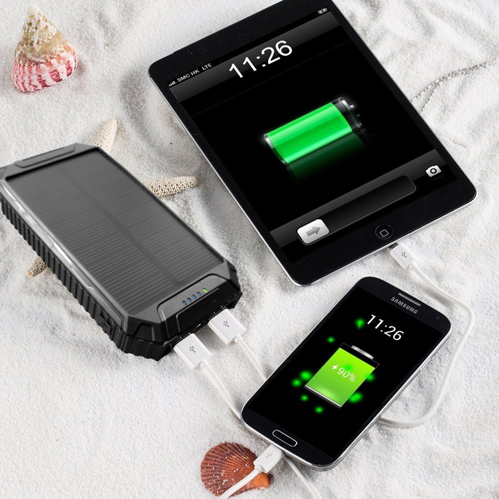 LED-design PowerGreen Mini Solar Panel Dual Ports Solar Battery Quick - Mobiltelefon tilbehør og reparation dele - Foto 5