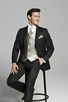 2018 Customized Charcoal Men's Suit Ceremony Suit Party Suit Boys coat, suits for men brand Jacket+Pants+Tie+Vest Groom Tuxedos