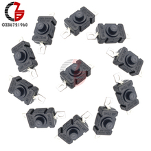 5Pcs 18x12mm 1.5A 250V AC Self Lock Push Button Switch KAN-28 Flashlight Switch 2P-On-Off Patch Type Control Switch