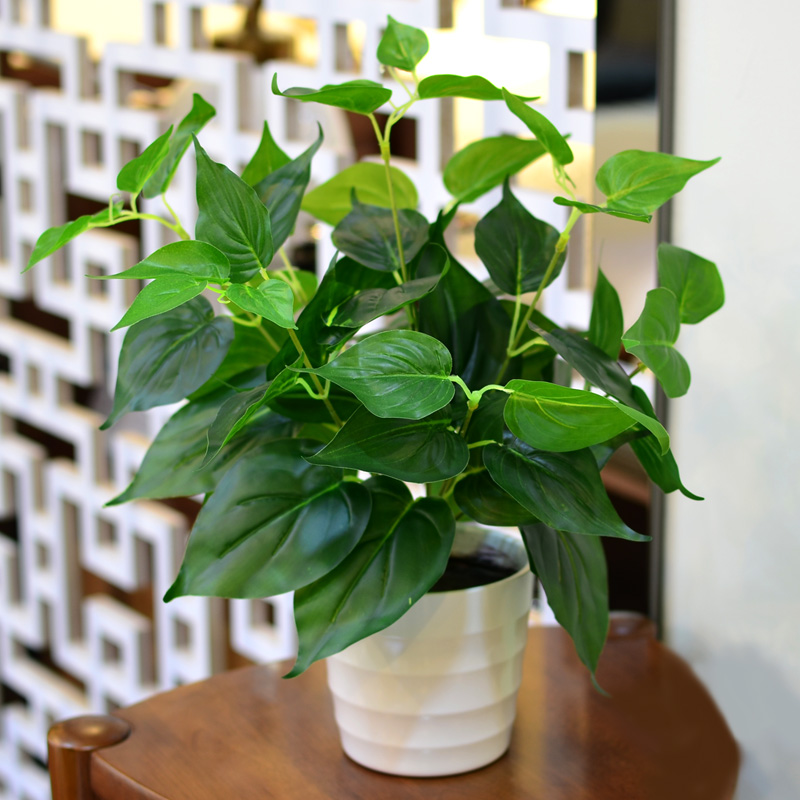 New 8 Branches 1x Green Imitation Fern Plastic Artificial
