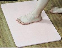 Natural Diatom Mud Foot Mat Bathroom Anti-slip Absorbent Mats Door Diatomite Pad 40*30