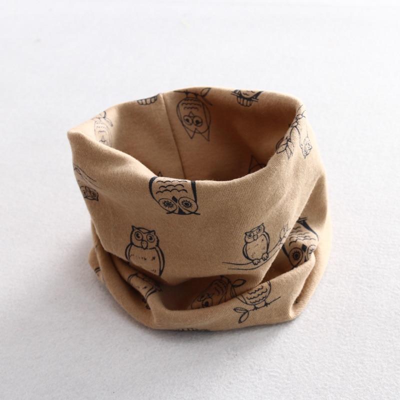 Осенне-зимний детский хлопковый шарф для девочек и мальчиков теплые шарфы Детский круглый кольцевой ошейник Детский шарф детский волшебный шейный платок - Цвет: owl 6