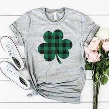 pattys day shirt funny patricks tshirt graphic tees luck girl lets get shamrocked 2019 summer women streetwear green