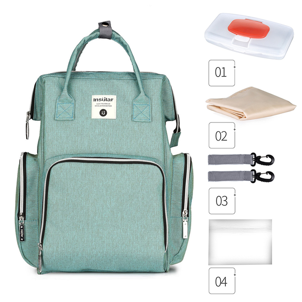 Insular Baby Organizer Bag For Baby Mom Large Capacity Mummy Maternity Nappy Bag mochilas para bebes Waterproof Diaper BagInsular Baby Organizer Bag For Baby Mom Large Capacity Mummy Maternity Nappy Bag mochilas para bebes Waterproof Diaper Bag