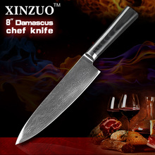 8″ inches chef knife 73 layers Japanese VG10 Damascus steel kitchen chef knife cleaver cook tool Micarta handle free shipping