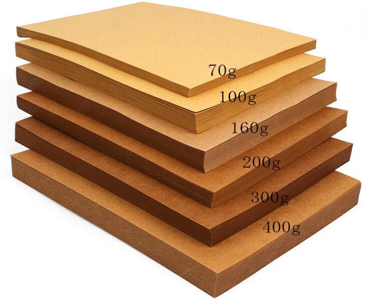 70 200gsm 10050pcs high quality a4 brown kraft paper diy
