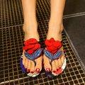 Флип-флоп Тапочки Для Женщин 2017 Летний Новый Прибытие Красивая Мода Дамы Сандалии С Цветами Размер 38 39 Продвижение