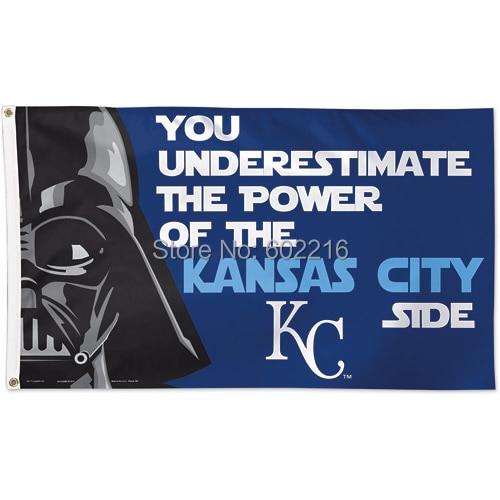 Kansas City Royals Star Wars Team Logo Flag MLB Banner