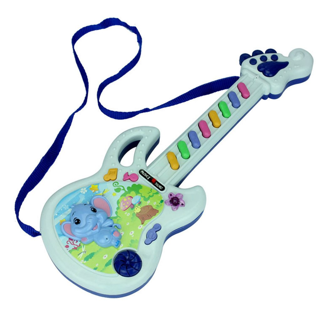 Electric Guitar Toy Musical Play Kid Boy Girl Toddler Learning Developmental Baby Early Educational Electron Toy Birthday Gifts