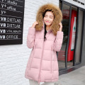 winter jacket women 2016 new fashion real 100% raccoon fur  irregular warm thick long hooded down jacket coat women