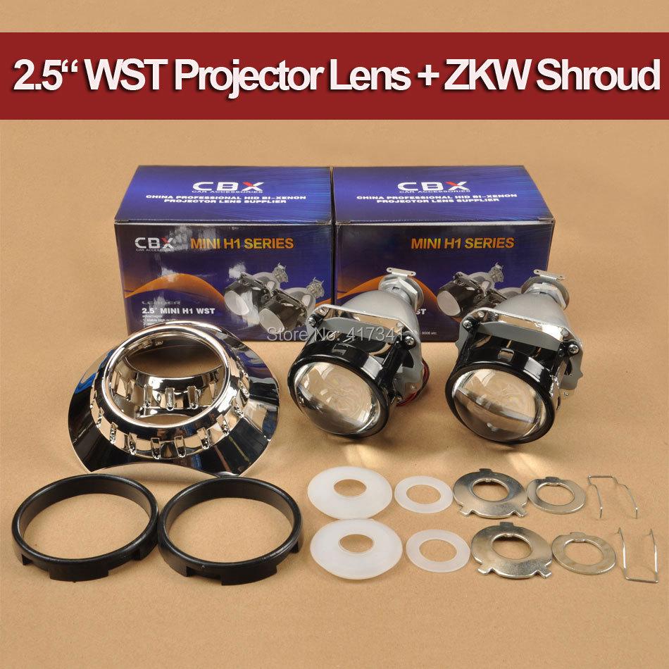 Nuevo Full Metal 2.5 pulgadas H1 Mini HID Bi-xenon proyector LHD / - Luces del coche