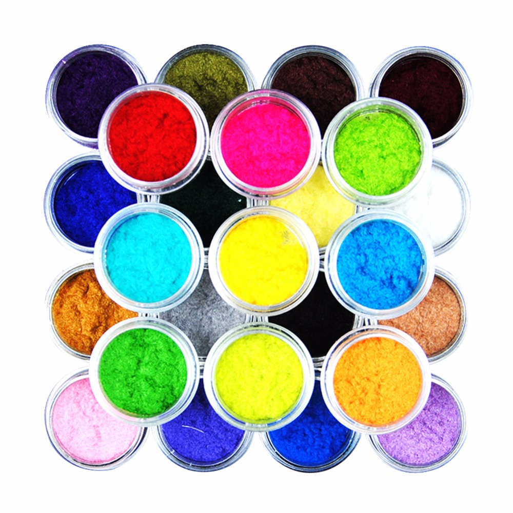 25 color 3d velvet flocking powder nail art decorations for Acrylic nail decoration supplies