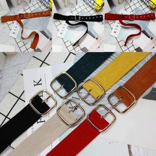Women's   Belt   Girls Fashion All-Matching Jeans Dress Adjustable Metal Adornment Waist   Belt   Buckle Vintage