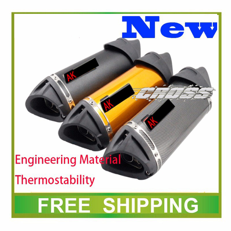 motorcycle exhaust pipe muffler modify pipe motocross scooter akrapovic exhaust tubo escape moto escapamento de moto 125cc 200cc modified akrapovic exhaust escape moto silencer 100cc 125cc 150cc gy6 scooter motorcycle cbr jog rsz dirt pit bike accessories