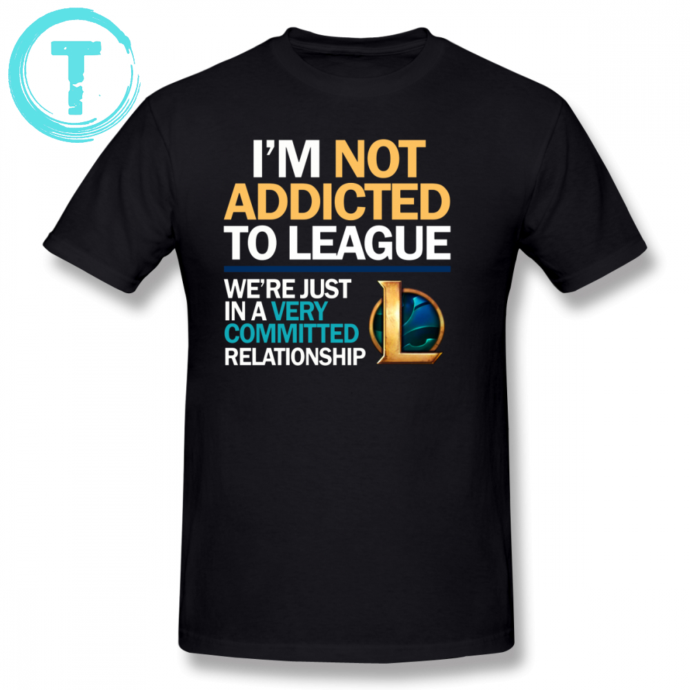 Addicted T Shirt I M Not Addicted T-Shirt Man Awesome Tee Shirt Plus size  Graphic Summer Short Sleeve Cotton Tshirt