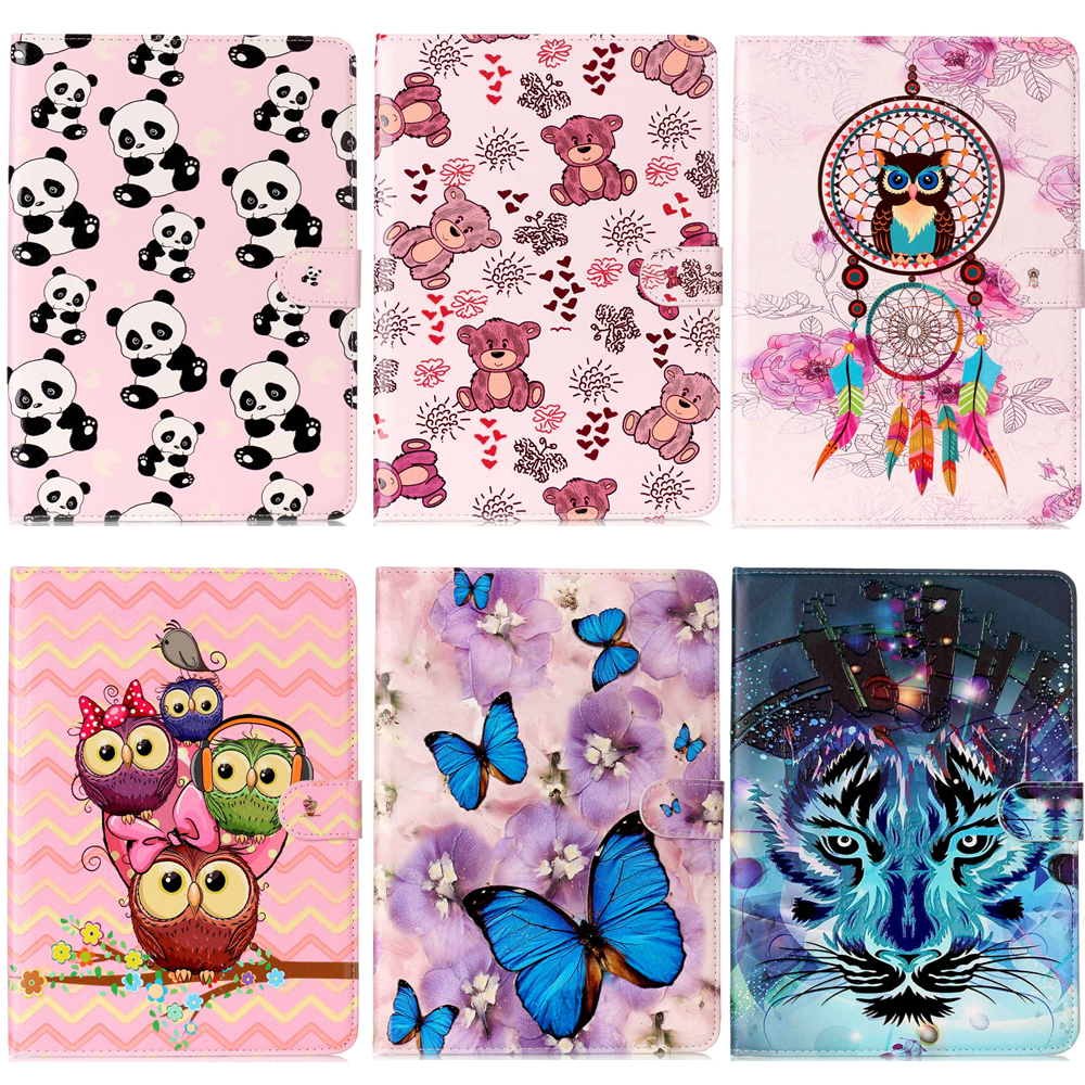 panda Lion Painted Flip PU Leather Cover Case For iPad Mini 5 Tablet Sleeve Wallet Stand Case For Apple iPad mini5