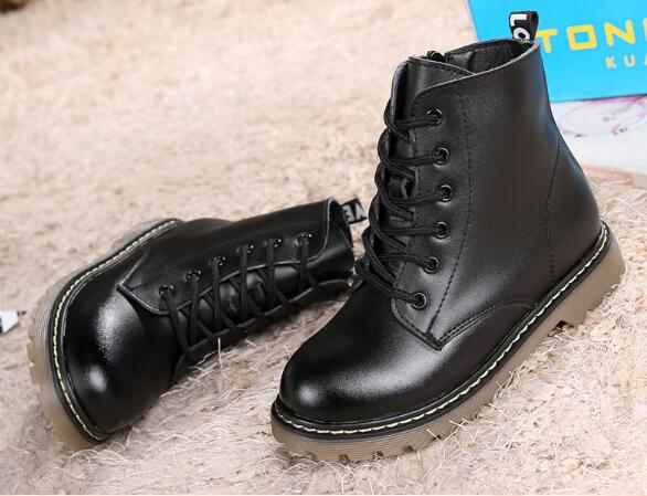Top-Selling-Genuine-leather-Military-Motorcycle-boots-Children-shoes-Snow-Boots-Slip-resistant-Boys-Girls-Ankle-Martin-boots-03B-3