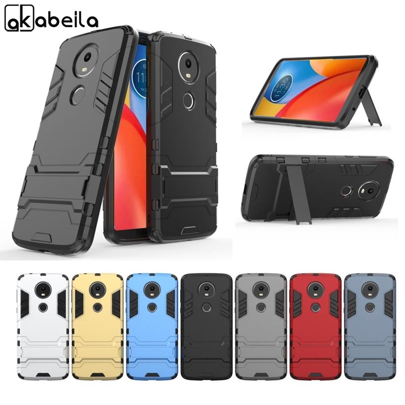 AKABEILA Case For Motorola Moto E5 E5 Plus Cases Hybrid Cover PC Silicone Rubber Phone Covers Anti-fall Shell Protection Bag New