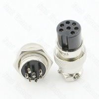 7 Pinos Conector de Ar GX16 7P Um Conjunto|set connector|set pins|  -