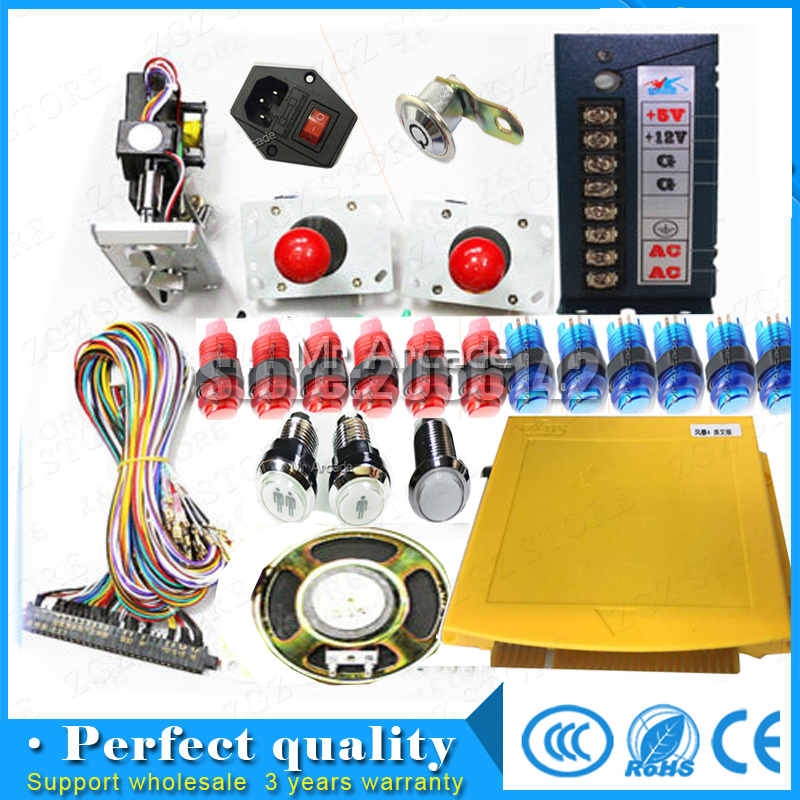 815 in 1  Arcade Mutligames Pandora Board kit Jamma with cga and vga output  with jamma harness joystick buttons speaker free shipping pandora box 4s 815 in 1 jamma mutli game board arcade mutligame pcb vga hdmi signal output for arcade game cabinet