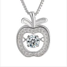 Everoyal Female Fashion Silver 925 Lady Choker Necklace Jewelry Girls Shiny Zircon Apple Pendant Necklace For Women Accessories exquisite zircon butterfly pendant necklace for women jewelry fashion rose gold lady necklace silver 925 accessories female gift