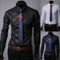 Newest design 3 colors mens striped shirts American & European men's formal shirt 2014 spring & autumn man work wear