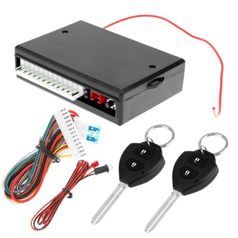 Vodool 12 v universal carro remoto kit de bloqueio da porta central do veículo bloqueio central keyless sistema entrada alarme do carro com controle remoto