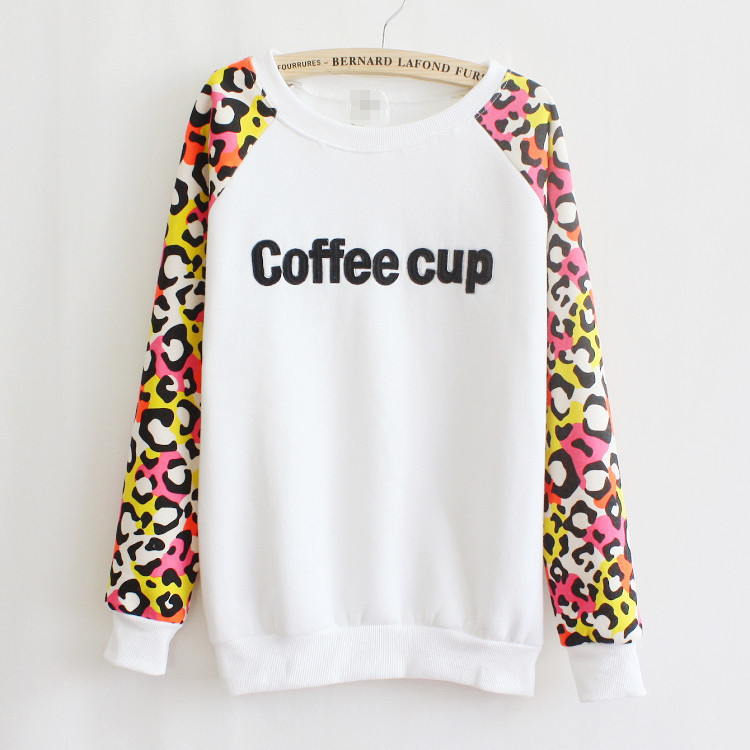 16f0a6ae0c3 2018 Brand Casual Sweatshirt Autumn Winter Style Women Leopard Candy  Colored Round Neck Hoodie Hoody Pullover Women Tops .