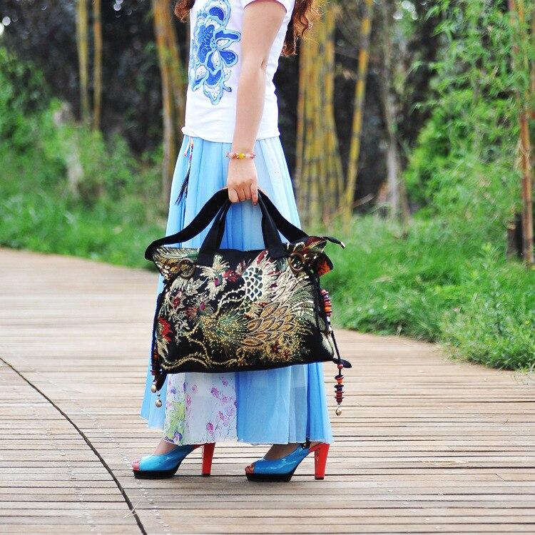 da moda feminina lazer saco crossbody lona bordado bolsa feminina