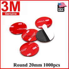 1000pcs 3M VHB 5952 20mm Round Heavy Duty Double Sided Adhesive Acrylic Foam Tape Good For Car Camcorder DVR Holder